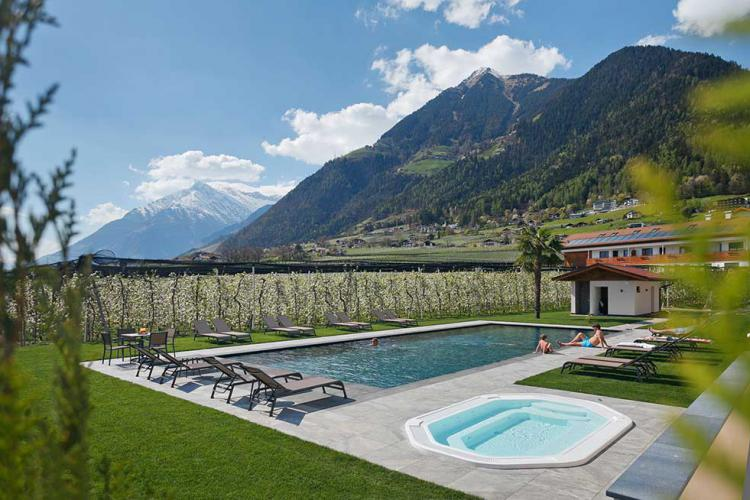 heated pool, whirlpool and large lawn